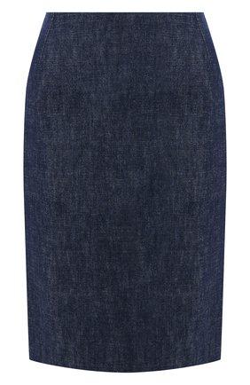 Женская джинсовая юбка RALPH LAUREN темно-синего цвета, арт. 290795720 | Фото 1