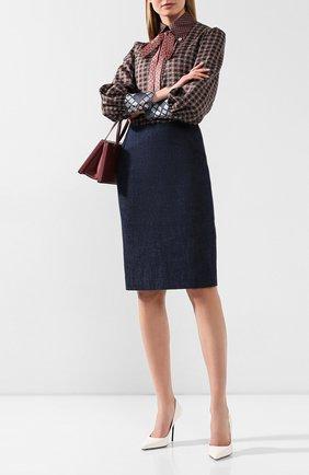 Женская джинсовая юбка RALPH LAUREN темно-синего цвета, арт. 290795720 | Фото 2