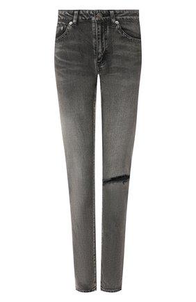 Женские джинсы SAINT LAURENT серого цвета, арт. 602798/YW500 | Фото 1