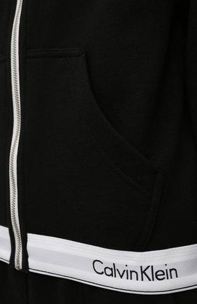Женский хлопковая толстовка CALVIN KLEIN черного цвета, арт. QS5667E   Фото 5