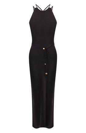 Женское платье NANUSHKA черного цвета, арт. NARITA_BLACK_WASHED SATIN   Фото 1