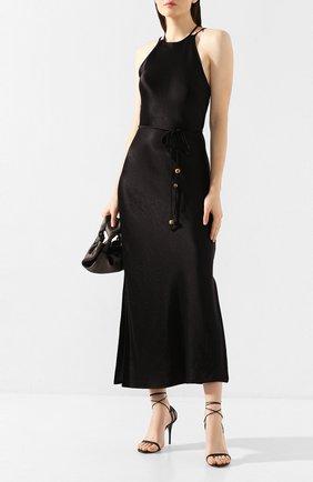 Женское платье NANUSHKA черного цвета, арт. NARITA_BLACK_WASHED SATIN   Фото 2