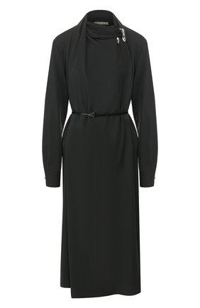 Женское шерстяное платье BOTTEGA VENETA зеленого цвета, арт. 610225/VKI30 | Фото 1
