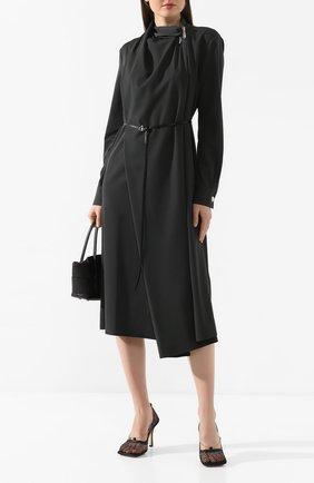 Женское шерстяное платье BOTTEGA VENETA зеленого цвета, арт. 610225/VKI30 | Фото 2