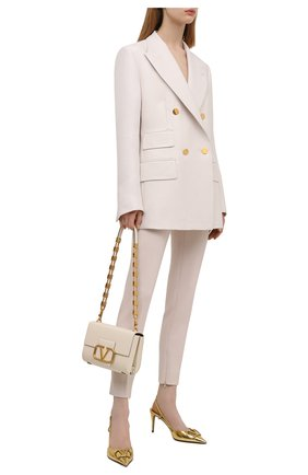 Женские шерстяные брюки TOM FORD белого цвета, арт. PAW300-FAX431 | Фото 2