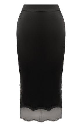 Женская шелковая юбка TOM FORD черного цвета, арт. GC5408-FAX334 | Фото 1