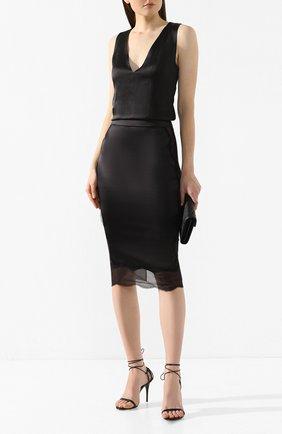 Женская шелковая юбка TOM FORD черного цвета, арт. GC5408-FAX334 | Фото 2