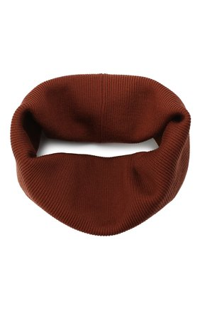 Мужской шерстяной шарф-снуд LORO PIANA коричневого цвета, арт. FAI9703 | Фото 1