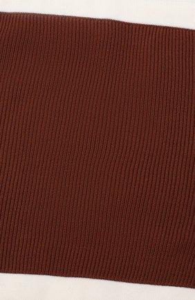 Мужской шерстяной шарф-снуд LORO PIANA коричневого цвета, арт. FAI9703 | Фото 2