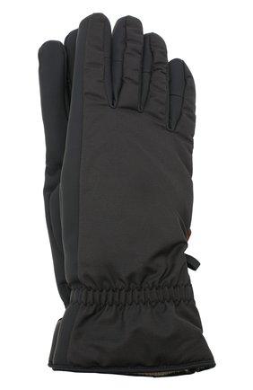 Мужские утепленные перчатки LORO PIANA темно-серого цвета, арт. FAI9728 | Фото 1