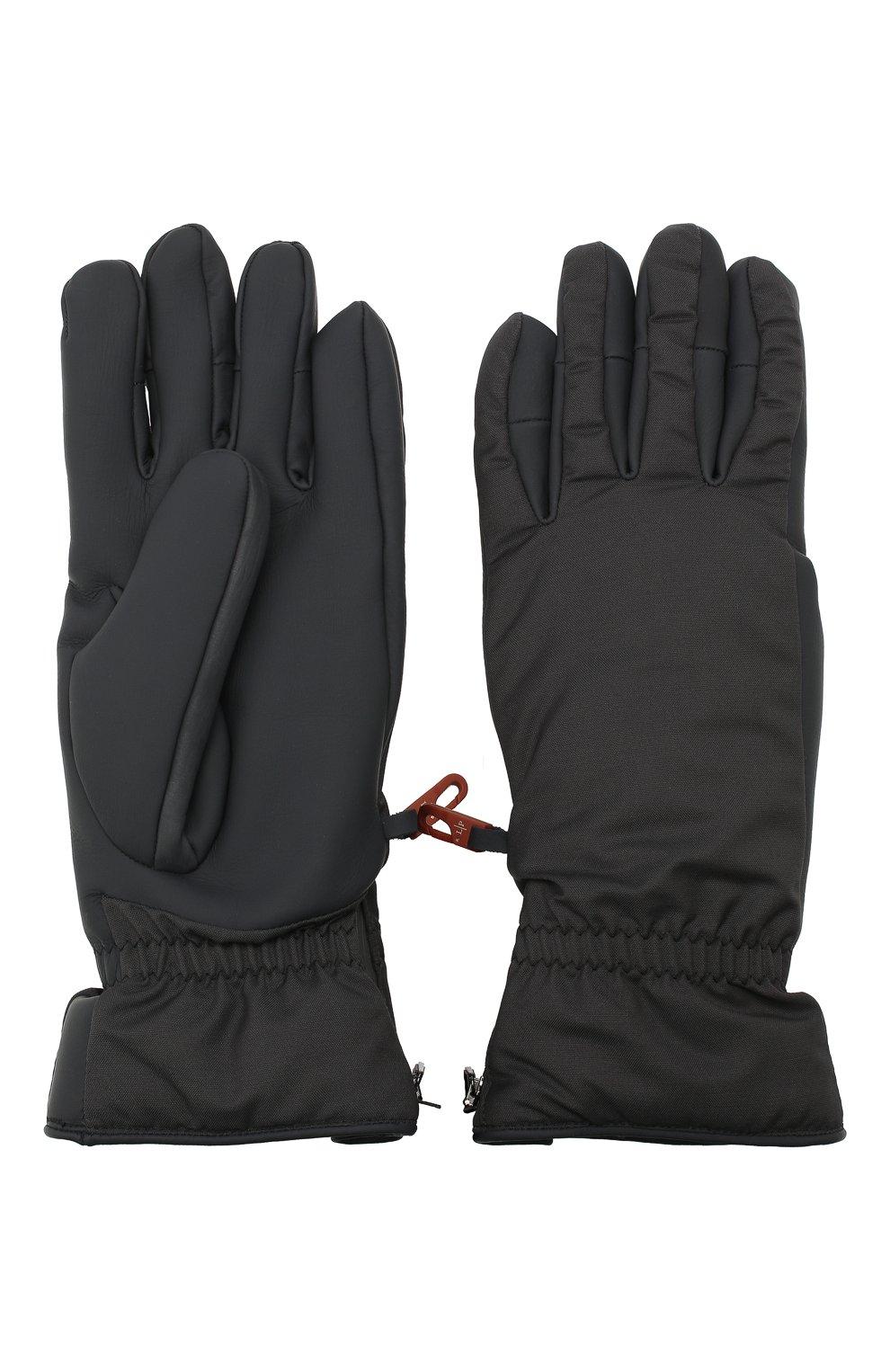 Мужские утепленные перчатки LORO PIANA темно-серого цвета, арт. FAI9728   Фото 2 (Кросс-КТ: Пуховик)