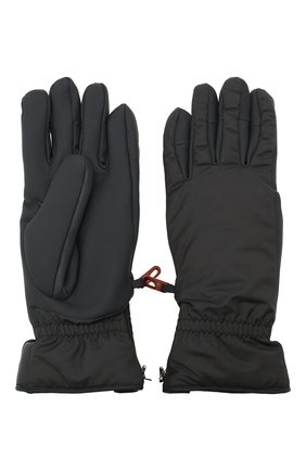 Мужские утепленные перчатки LORO PIANA темно-серого цвета, арт. FAI9728 | Фото 2