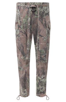 Мужской хлопковые брюки FEAR OF GOD коричневого цвета, арт. 6F19-4004/PBD | Фото 1