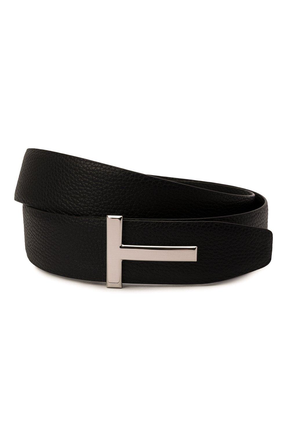 Мужской кожаный ремень TOM FORD коричневого цвета, арт. TB178P-LCL050   Фото 1 (Случай: Формальный)