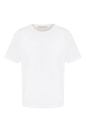 Мужская хлопковая футболка BOTTEGA VENETA белого цвета, арт. 609305/VF1U0   Фото 1
