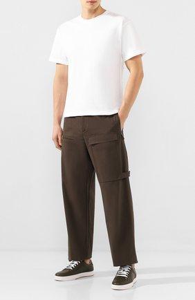 Мужская хлопковая футболка BOTTEGA VENETA белого цвета, арт. 609305/VF1U0   Фото 2