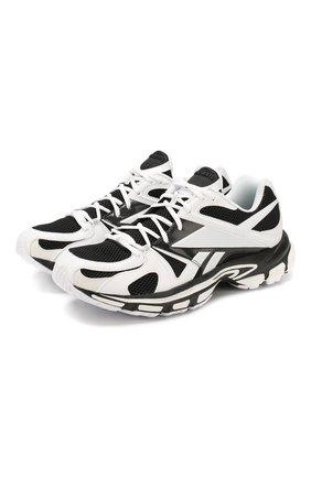 Мужские комбинированные кроссовки vetements x reebok spike runner VETEMENTS черно-белого цвета, арт. SS20SN008 1371/M | Фото 1