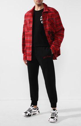 Мужской хлопковые джоггеры ALEXANDER MCQUEEN черного цвета, арт. 599618/Q0Z82 | Фото 2