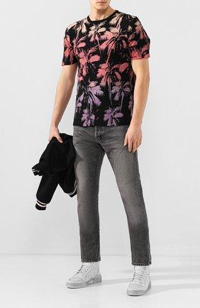 Мужская хлопковая футболка SAINT LAURENT розового цвета, арт. 604454/YB0Z2   Фото 2