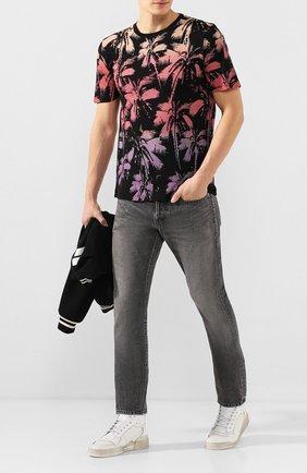 Мужские кожаные кеды sl24 SAINT LAURENT белого цвета, арт. 610618/1JZ50 | Фото 2