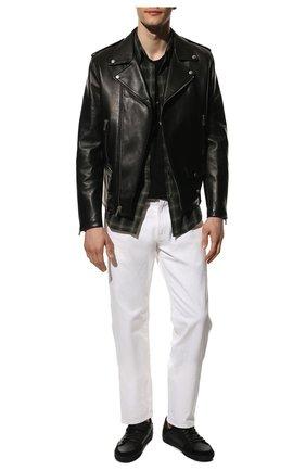 Мужские кожаные кеды court classic sl/10 SAINT LAURENT черного цвета, арт. 603223/1JZ30 | Фото 2