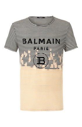 Мужская хлопковая футболка BALMAIN разноцветного цвета, арт. TH11601/I206 | Фото 1