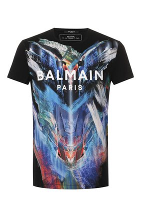 Мужская хлопковая футболка BALMAIN разноцветного цвета, арт. TH11601/I251 | Фото 1
