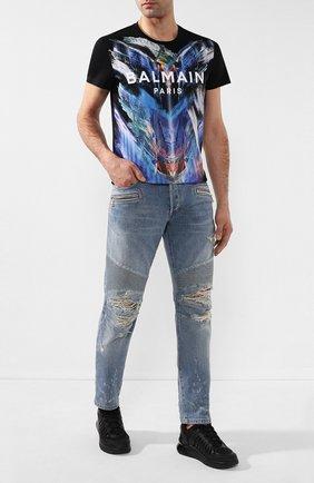 Мужская хлопковая футболка BALMAIN разноцветного цвета, арт. TH11601/I251 | Фото 2