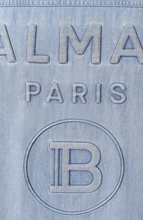 Мужская джинсовая рубашка BALMAIN синего цвета, арт. TH12328/Z090 | Фото 5