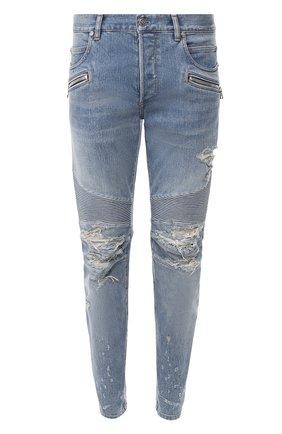 Мужские джинсы BALMAIN синего цвета, арт. TH15428/Z074 | Фото 1