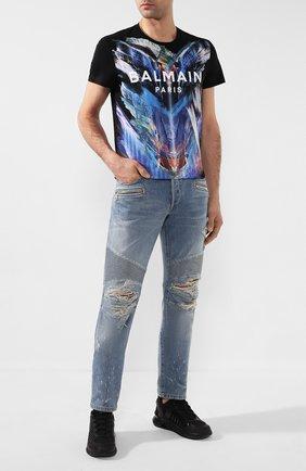 Мужские джинсы BALMAIN синего цвета, арт. TH15428/Z074 | Фото 2