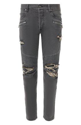 Мужские джинсы BALMAIN серого цвета, арт. TH15428/Z075 | Фото 1