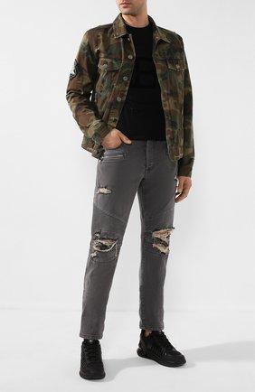 Мужские джинсы BALMAIN серого цвета, арт. TH15428/Z075 | Фото 2