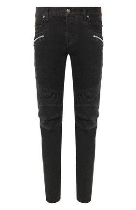 Мужские джинсы BALMAIN черного цвета, арт. TH15446/Z077 | Фото 1