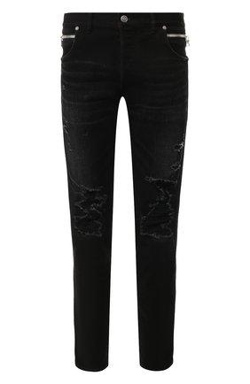 Мужские джинсы BALMAIN черного цвета, арт. TH15588/Z047 | Фото 1