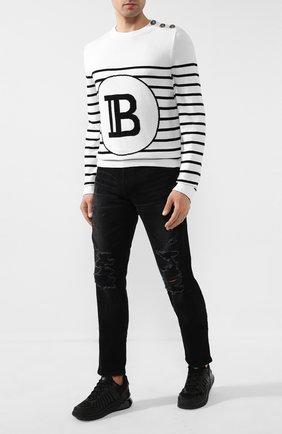 Мужские джинсы BALMAIN черного цвета, арт. TH15588/Z047 | Фото 2