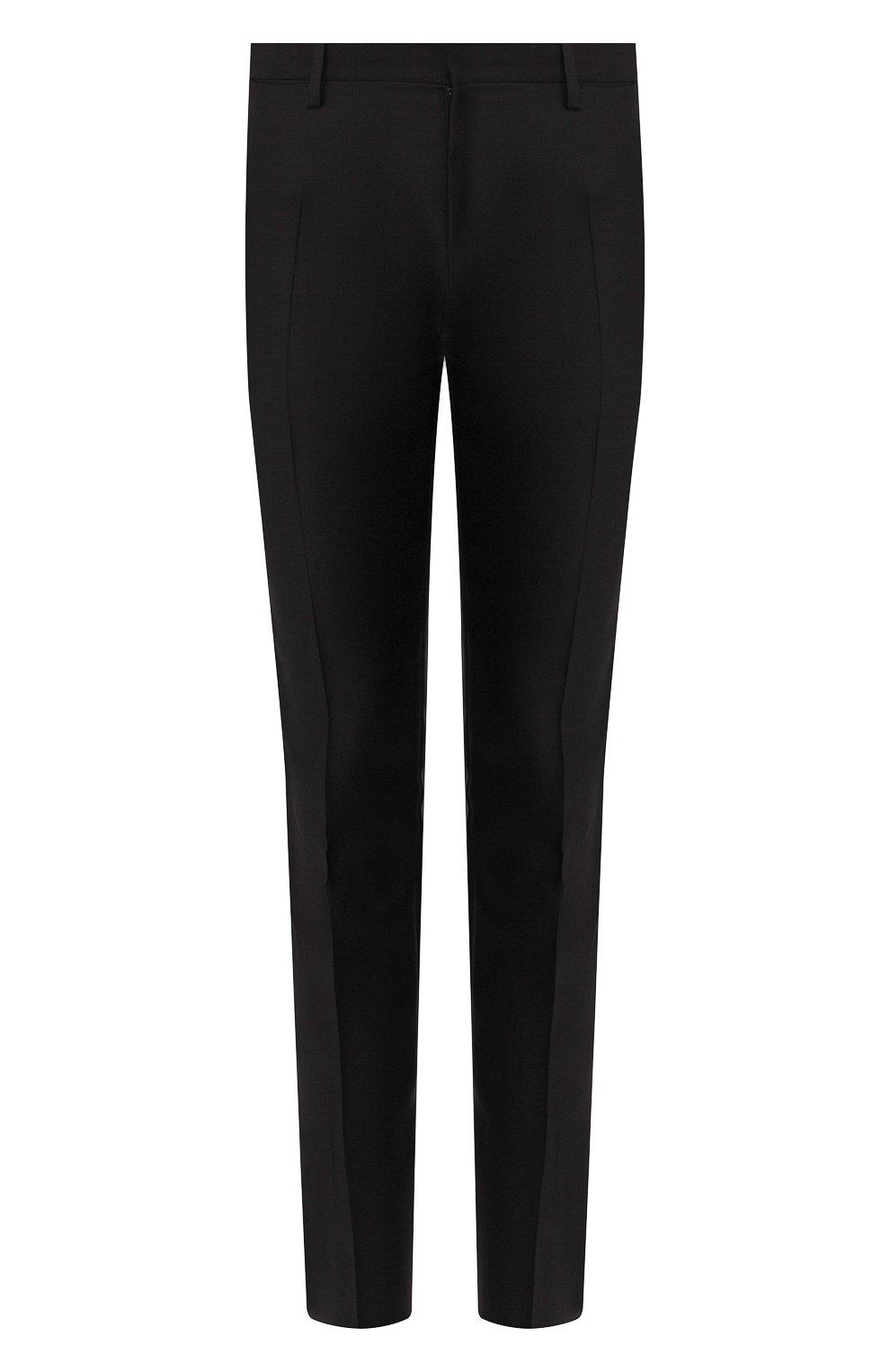 Мужские брюки из смеси шерсти и шелка DSQUARED2 черного цвета, арт. S74KB0379/S39408 | Фото 1