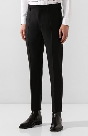 Мужские брюки из смеси шерсти и шелка DSQUARED2 черного цвета, арт. S74KB0379/S39408 | Фото 3
