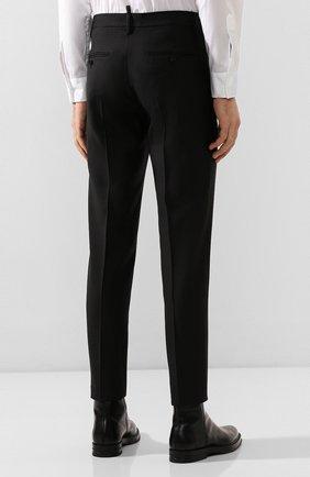 Мужские брюки из смеси шерсти и шелка DSQUARED2 черного цвета, арт. S74KB0379/S39408 | Фото 4