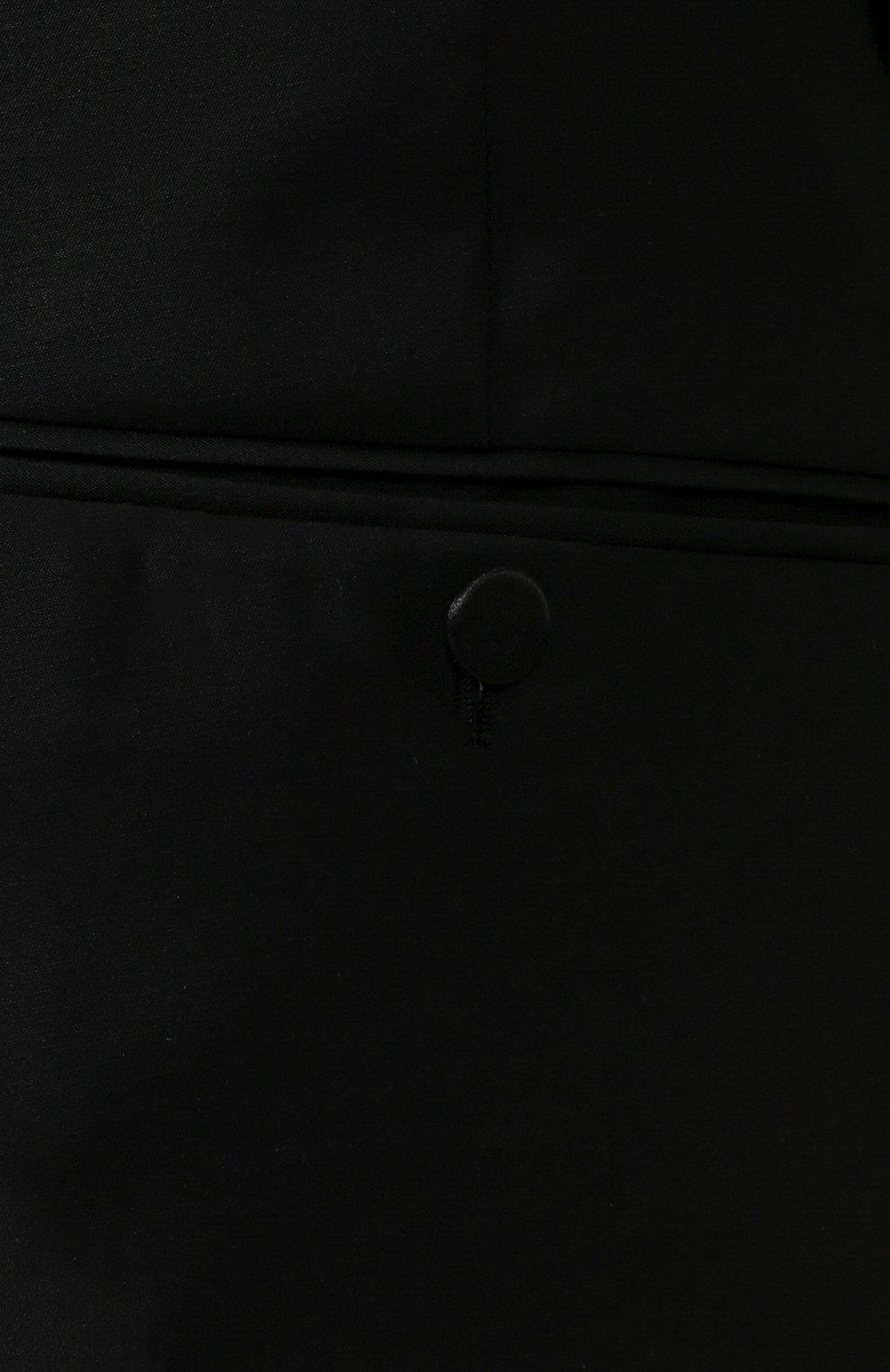Мужские брюки из смеси шерсти и шелка DSQUARED2 черного цвета, арт. S74KB0379/S39408 | Фото 5