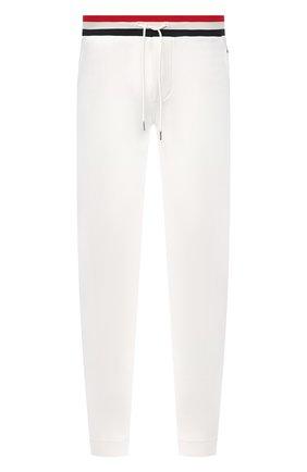 Мужской хлопковые брюки MONCLER белого цвета, арт. F1-091-8H704-00-V8007 | Фото 1