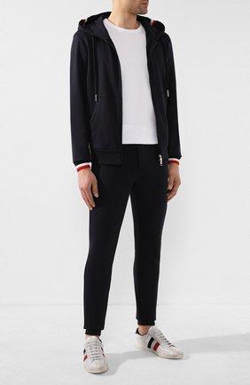 Мужской хлопковые брюки MONCLER темно-синего цвета, арт. F1-091-8H704-00-V8007 | Фото 2