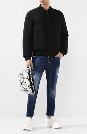Мужская текстильная поясная сумка millennials star DOLCE & GABBANA белого цвета, арт. BM1509/AJ610 | Фото 2