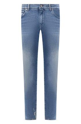Мужские джинсы DOLCE & GABBANA голубого цвета, арт. GY07CD/G8BY8 | Фото 1