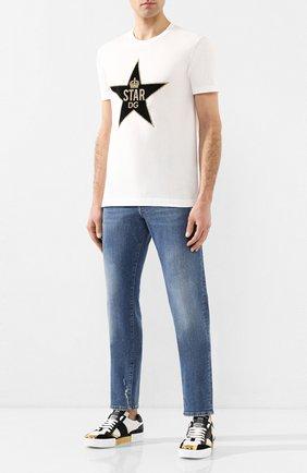 Мужские джинсы DOLCE & GABBANA голубого цвета, арт. GY07CD/G8BY8   Фото 2
