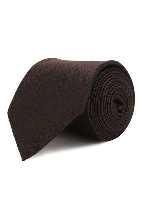 Мужской шелковый галстук ERMENEGILDO ZEGNA коричневого цвета, арт. Z7D30/1L7 | Фото 1
