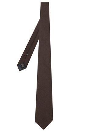 Мужской шелковый галстук ERMENEGILDO ZEGNA коричневого цвета, арт. Z7D30/1L7 | Фото 2