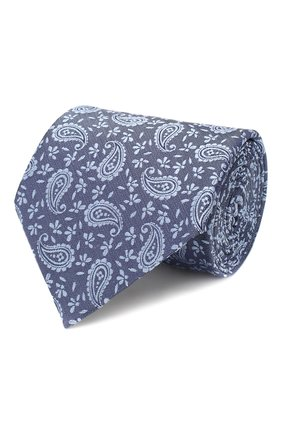 Мужской шелковый галстук ERMENEGILDO ZEGNA голубого цвета, арт. Z7D34/1UM   Фото 1