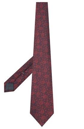 Мужской шелковый галстук ERMENEGILDO ZEGNA бордового цвета, арт. Z7D34/1UM | Фото 2