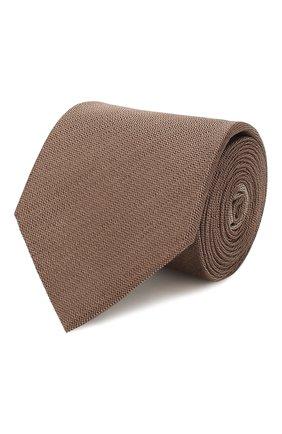 Мужской шелковый галстук ERMENEGILDO ZEGNA коричневого цвета, арт. Z7E00/16Y | Фото 1